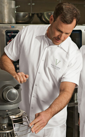 Chef Wear - Short Sleeve Pocketless Gripper Shirt CS26