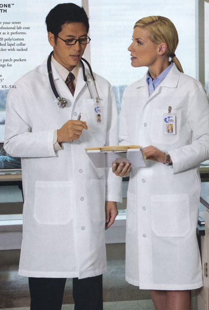 Medical Full-Length Lab Coat CS500 [CornerStone CS500] - $25.98