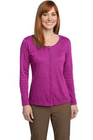 Port Authority - Ladies Silk Touch Interlock Cardigan. L530. - Click Image to Close
