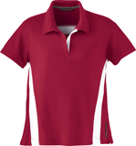 Ladies's Polyester Pique POLO with STRIPE