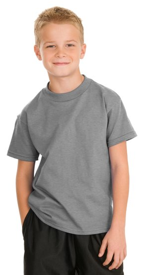 Hanes - Youth Tagless 100% Cotton T-Shirt. 5450.