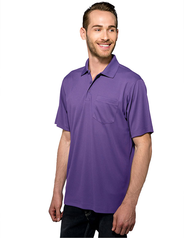 Tri-Mountain K020P Vital Pocket 100% Poly UltraCool Polo Shirt