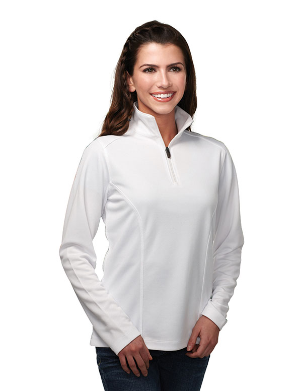 Tri-Mountain Easy Care 1/4-Zip Shirt - KL628 Lady Clementon