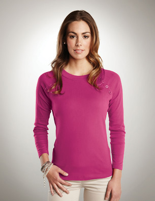 LB393 Tiffany - Lilac Bloom Women's Long Sleeve Knit