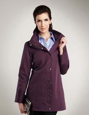LB5360 Kate - Lilac Bloom Women's Short Trench Coat