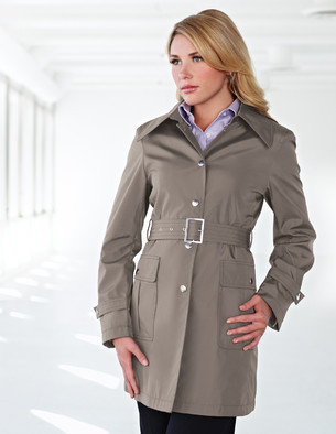 LB9013 Sasha - Lilac Bloom Women's Trench Coat