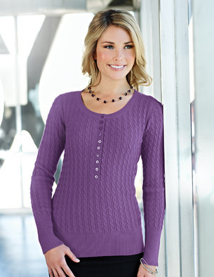 LB922 Audrey - Lilac Bloom Women's Long Sleeve Sweater