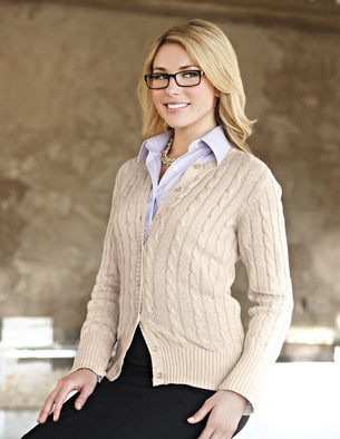 LB923 Claire - Lilac Bloom Women's Cardigan Sweater