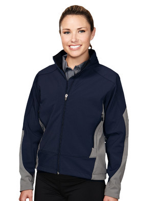 Tri-Mountain Women\'s 3-Layer Soft Shell Jacket #6425 Fidelity