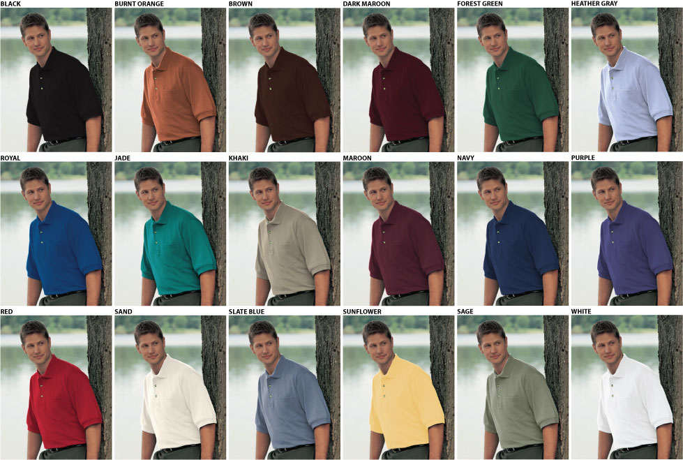 Tri-Mountain Men's Relaxed Fit Golf Shirt w/Pocket